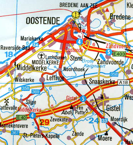 doskonała mapa Belgii