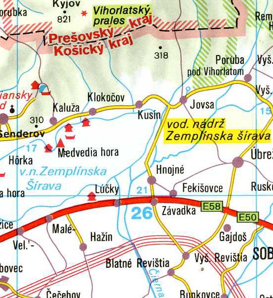 dobra mapa Slowacji