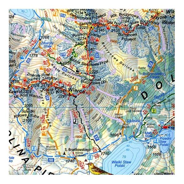 Tatry Mapa Tatry Wysokie 1 25 000