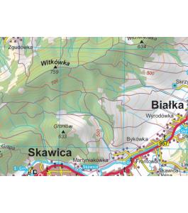 Babia Góra i Beskid Makowski plik graficzny png 180 dpi