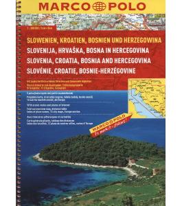 Chorwacja, Słowenia, Bośnia atlas samochodowy