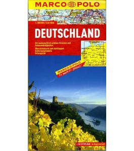Niemcy - mapa samochodowa 1:800 000