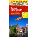 Belgia - mapa samochodowa 1:300 000