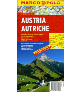 Austria - mapa samochodowa 1:300 000