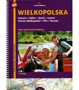 Wielkopolska - atlas turystyczno-drogowy 1:75 000
