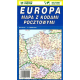 Europa mapa z kodami pocztowymi 1:4,9 mln.