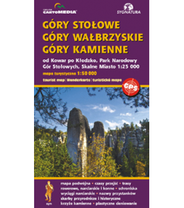 Góry Stołowe, Góry Wałbrzyskie, Góry Kamienne 1:50 000