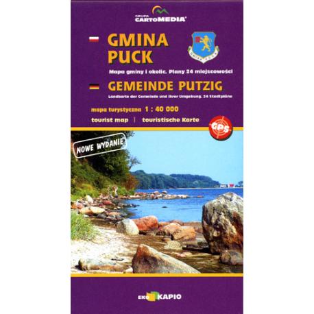 Gmina Puck - mapa turystyczna 1:40 000, Gemeinde Putzig - touristische Karte 1:40 000