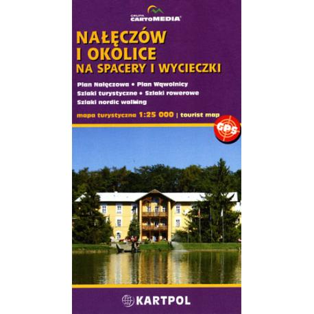 Nałęczów i okolice 1:25 000 mapa turystyczna