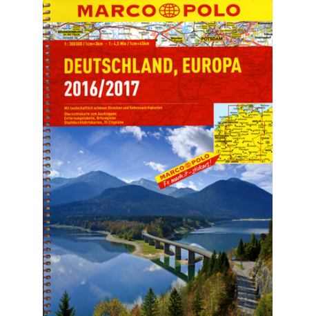 Niemcy - atlas samochodowy 1:300 000