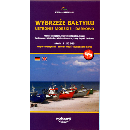 Unikalne Wybrzeże Bałtyku mapa turystyczna JA17