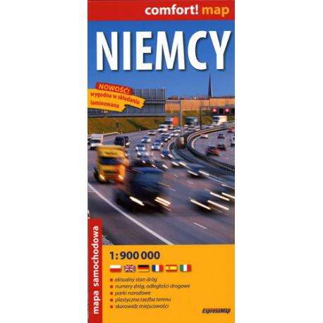 Niemcy - mapa samochodowa laminowana