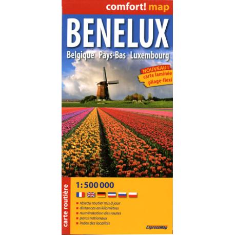 Benelux - mapa samochodowa laminowana