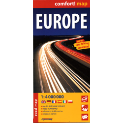 Europa - mapa samochodowa laminowana